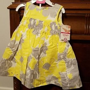 👧NWT Carters Lined Dress w/Bloomers Size 9 Months